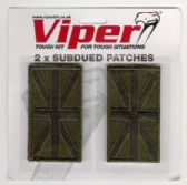 VIPER SUBDUED OLIVE GREEN UNION JACK SHOULDER PATCH